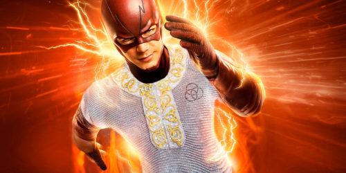 image représentant Flash ( un héros de l'univers DC comics) portant une cote en mithril.