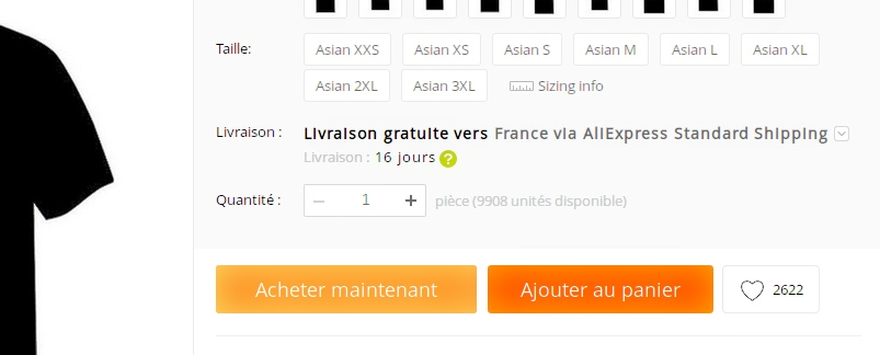 affordance sur un site web