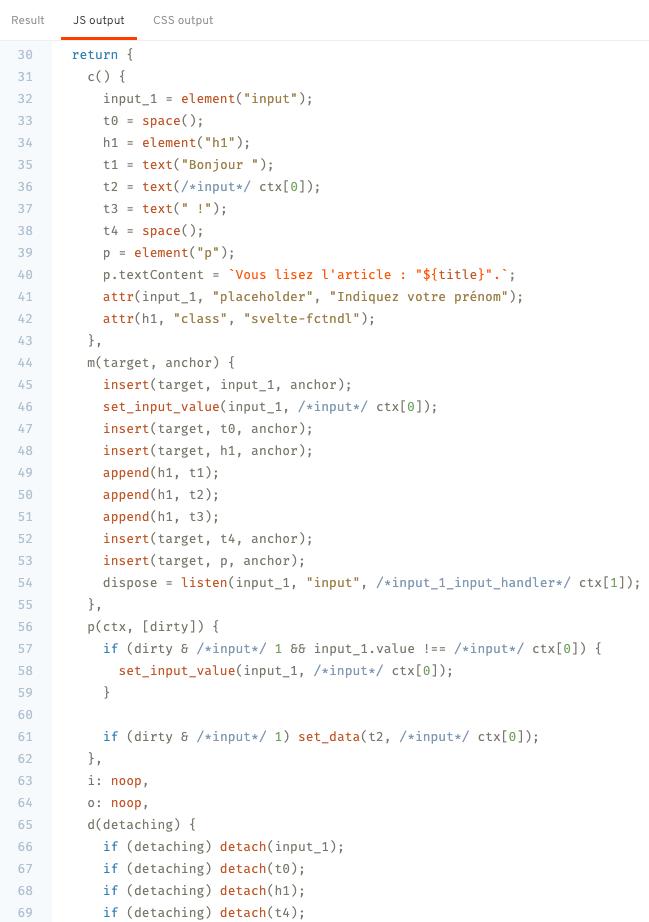 Compilation Framework JavaScript Svelte