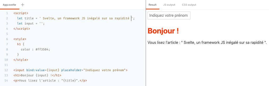Framework JavaScript Svelte